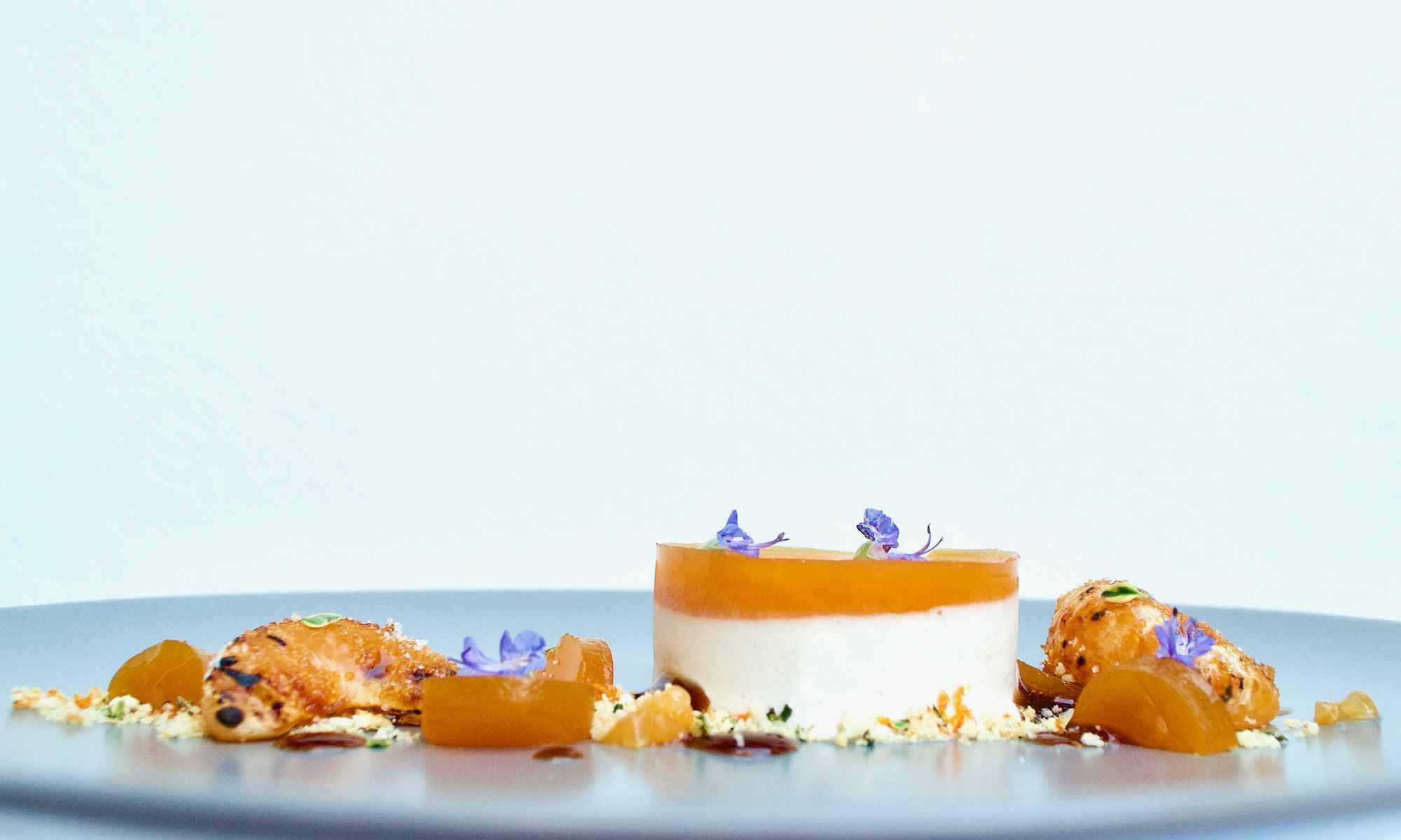 Clementine & Earl Grey tea parfait - Side view - Dessert by Pollensa Private Chefs
