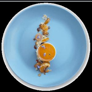 Pollensa Private Chefs - Dessert - Clementine & Earl Grey tea parfait - Top view